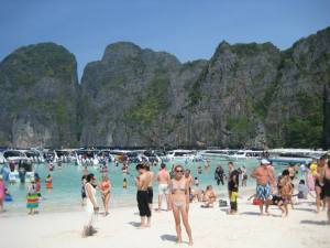 Maya Bay, where The Beach with Leo was filmed!