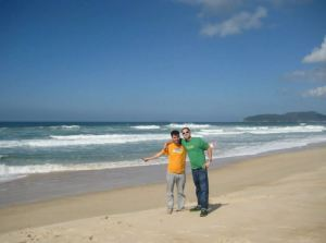Dave and Cristian in Florianopolis, Brazil.